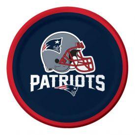 NFL New England Patriots Appetizer or Dessert Paper Plates 7