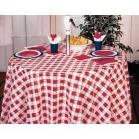 Red Gingham Table Cover Plastic 82
