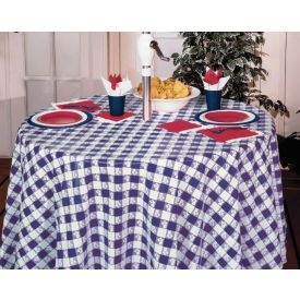 Blue Gingham Table Cover, Plastic 82