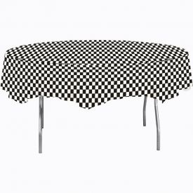 Black Check Table Covers Plastic 82