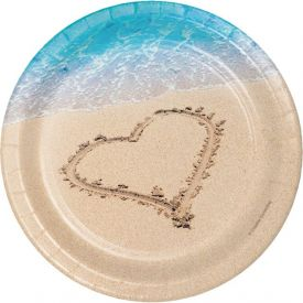 Beach Love Appetizer or Dessert Plates 7