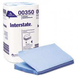 Interstate® 2-Ply Singlefold Auto Care Paper Wipers, 9.5 x 10.25