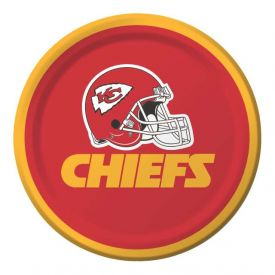 NFL Kansas City Chiefs Appetizer or Dessert Paper Plates 7