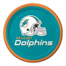 NFL Miami Dolphins Appetizer or Dessert Paper Plates 7