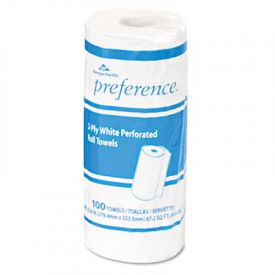 Georgia Pacific® Perforated 2 Ply Paper Towel Rolls, 8-4/5 x 11, White