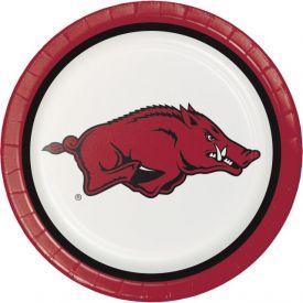 University of Arkansas Paper Dinner Plates Sturdy Style 9