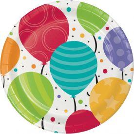 Shimmering Balloons Dinner Plates 9