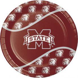Mississippi State Univ Paper Dinner Plates 9