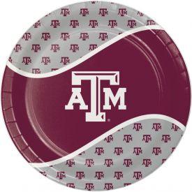 Texas A & M Univ Paper Dinner Plates 9