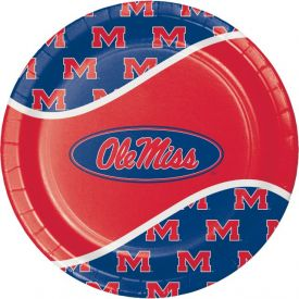 University of Mississippi Paper Dinner Plates 9