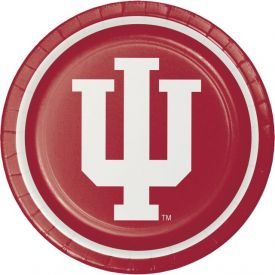 Indiana University Paper Dinner Plates Sturdy Style 9