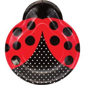 Ladybug Paper Dinner Plates Shaped 9