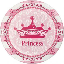 Pink Princess Royalty Paper Dinner Plates 9