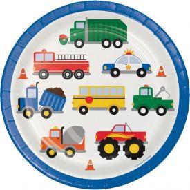 Traffic Jam Paper Dinner Plates 9