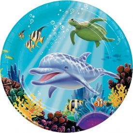 Ocean Party Paper Dinner Plates 9