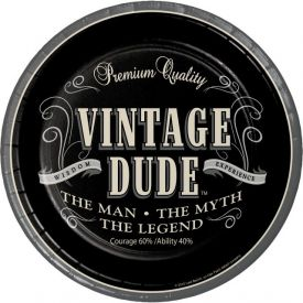 Vintage Dude Paper Dinner Plates Man Myth Legend 9
