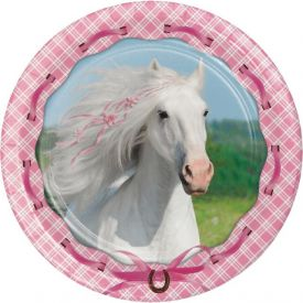 Heart My Horse Paper Dinner Plates 9
