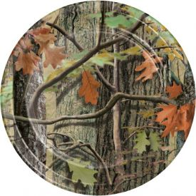 Hunting Camo Paper Dinner Plates 9