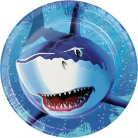 Shark Splash Paper Dinner Plates 9