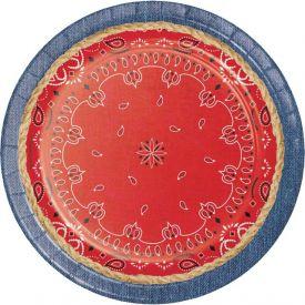 Bandanarama Paper Dinner Plates 9