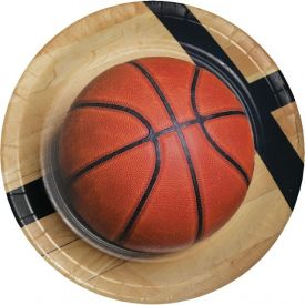 Sports Fanatic Basketball Paper Dinner Plates 9