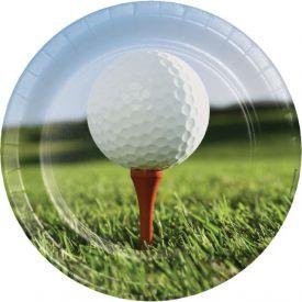 Sports Fanatic Golf Paper Dinner Plates 9
