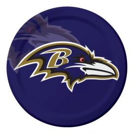 NFL Baltimore Ravens Paper Dinner Plates Sturdy Style 9
