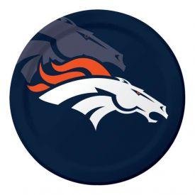 NFL Denver Broncos Paper Dinner Plates 9