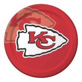 NFL Kansas City Chiefs Paper Dinner Plates 9