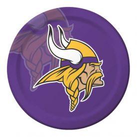 NFL Minnesota Vikings Paper Dinner Plates 9