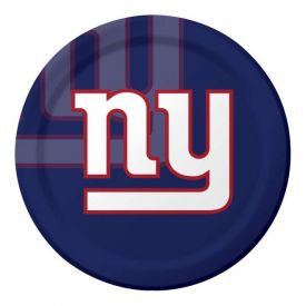 NFL New York Giants Paper Dinner Plates 9