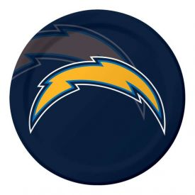 NFL Los Angeles Chargers Paper Dinner Plates 9
