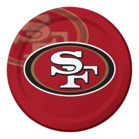 NFL San Francisco 49ers Paper Dinner Plates 9