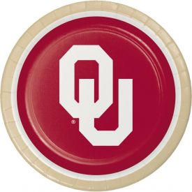 University of Oklahoma Paper Dinner Plates 9