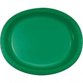 Emerald Green Paper Oval Platters 10