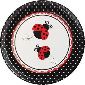 Ladybug Fancy Paper Banquet Plates 10