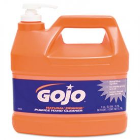 GOJO® NATURAL ORANGE; Pumice Hand Cleaner with Dispenser, Orange, 1 gal