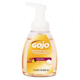 GOJO®Foam Antibacterial Hand Wash, Fresh Fruit Scent, 7.5 oz Pump