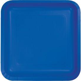 Cobalt Appetizer or Dessert Paper Plates Square 7