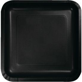 Black Velvet Appetizer or Dessert Paper Plates Square 7