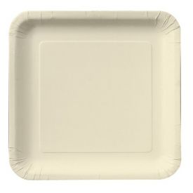 Ivory Appetizer or Dessert Paper Plates, Square 7