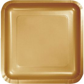 Glittering Gold Appetizer or Dessert Paper Plates Square 7