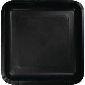 Black Velvet Paper Dinner Plate Square 9