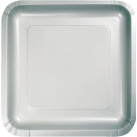 Shimmering Silver Dinner Plate Square 9