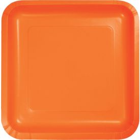 Sunkissed Orange Dinner Plate Square 9