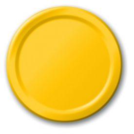 School Bus Yellow Dinner Plates 9
