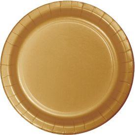 Glittering Gold Paper Dinner Plates 9