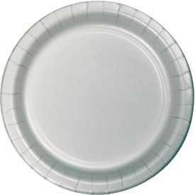Shimmering Silver Dinner Plates 9