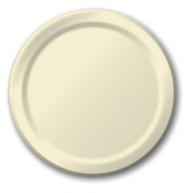 Ivory Paper Dinner Plates 9