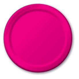 Hot Magenta Paper Dinner Plates 9